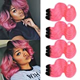FASHION LINE 8' Human Hair Bundles Ombre Two Tone Brazilian Virgin...