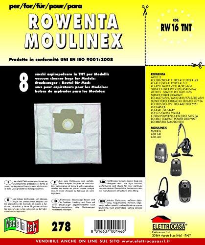 Elettrocasa RW 16 TNT A cilindro Sacchetto per la polvere accessorio e ricambio per aspirapolvere
