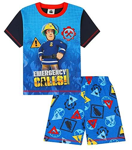Pyjama court pour garçon Sam le pompier - Bleu - 3 ans