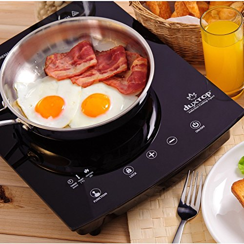 Duxtop 8310ST 1800-Watt Portable Sensor Touch Induction Cooktop, Silver