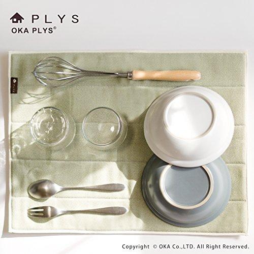 オカPLYSbase(プリスベイス)水切り吸水マットLサイズ約35×45cm(グレー)
