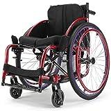 Wheelchair Deportes Sillas de Ruedas, Silla de Ruedas Manual Manera Ocasional, Ligero Quick Fold aleación de Aluminio Patinete for discapacitados en Silla de Ruedas Atlética autopropulsadas