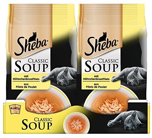 Comida para Gato Classic Soups, de la Marca SEBA. 12Paquetes (12x 4x 40g)