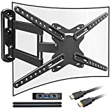Everstone Heavy Duty Single Stud TV Wall Mount Bracket for Most 32-70 Inch LED,LCD,OLED,Plasma Flat Screen,Curved TVs,with Full Motion Articulating Arm,Up to VESA600x400 and 110LB