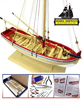 MS1457CBT Model SHIPWAYS 18TH Century Longboat Starter KIT with Tools - 1:48 Scale Wood Plank-on-Frame