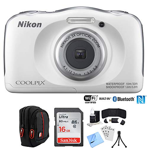 Learn More About Nikon COOLPIX W100 13.2MP Digital Camera w/ 3X Zoom Lens (Renewed) with 16GB Bundle...