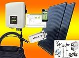 Lieferung von bau-tech Solarenergie GmbH PV Solaranlage / Balkonkraftwerk 900Watt mit Zulassung nach VDE-AR-N4105 und Echtzeitüberwachung Gesamtleistung/Nennleistung 900 Watt Peak! Bis zu 4,5 kWh an einem sonnigem Tag (Februar bis Oktober) selbst erz...