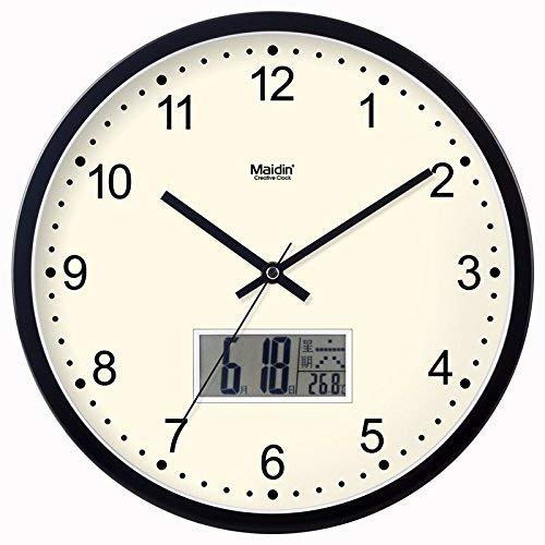 GFF Hauswanduhr Keine Vorwahl Wanduhr Quarz Wohnzimmeruhr Wohnkultur Uhr Zimmeruhr Uhr Art Mute (Farbe: Lila, Größe: 10 Zoll)
