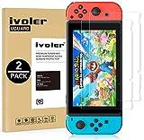 ivoler [2 Unidades] Protector de Pantalla para Nintendo Switch, Cristal Vidrio Templado Premium