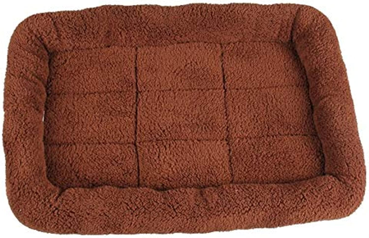 PetvillaLKR 5 Size Pet Large Dog Bed Soft Fleece Warm Cat Beds Multifunction Puppy Cushion Dog Cage Mat Dog Car Seat Mat Brown,Xl