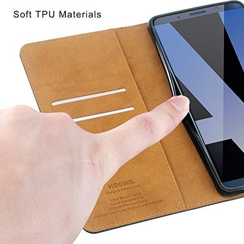 HOOMIL Handyhülle für Huawei Mate 10 Pro Hülle, Premium PU Leder Flip Schutzhülle für Huawei Mate 10 Pro Tasche, Schwarz - 6