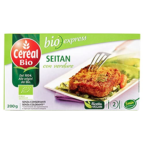 Céréal Bio, Seitan con verdure, da agricoltura biologica - 200g
