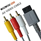 Wii/Wii U AV Cable - 6FT Audio Video Wire Cable Composite 3 RCA Gold-Plated High Definition for Nintendo TV HDTV Display
