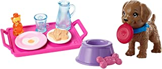 Barbie Breakfast and Puppy Accessory Pack Bundle - Pink, Purple