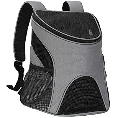 Pet Carrier, Itery Back Front Pack Dog Cat Travel Bag Pet Mesh Backpack Head out Design Padded Adjustable Shoulder Strap