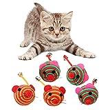 5 Stücke Katzenspielzeug Interaktives Spielzeug Maus Bälle Katzen Spielzeug Interaktiv Ball Maus Katze Toys Spielzeugmäuse für Katzen Kitty
