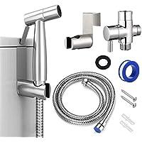 DITHIN Handheld Stainless Steel Bidet Toilet Sprayer Set