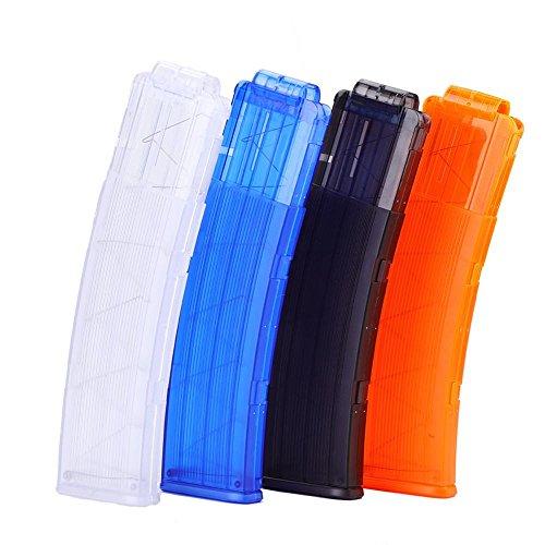 EVA Soft Bullet Clip 22 Darts Plastic Gun Cartridge Holder for Nerf Toy Dart Gun (White)
