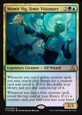 Magic: the Gathering - Momir Vig, Simic Visionary (009/016) - From The Vault: Lore - Foil by Magic: the Gathering