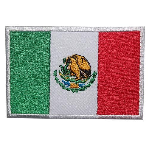 Parche bordado bandera México coser planchar