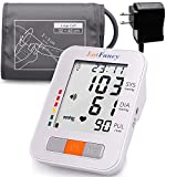 """LotFancy Upper Arm Blood Pressure Monitor, 2 Users, 180 Readings, Digital BP Machine with Wide Range Cuff (13""""-17""""), Upper Arm Cuff, BP Meter with Talking Function & Large LCD Display"""