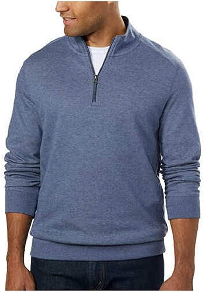 English Laundry Men's ¼ Zip Pullover (Light Blue, XX-Large)