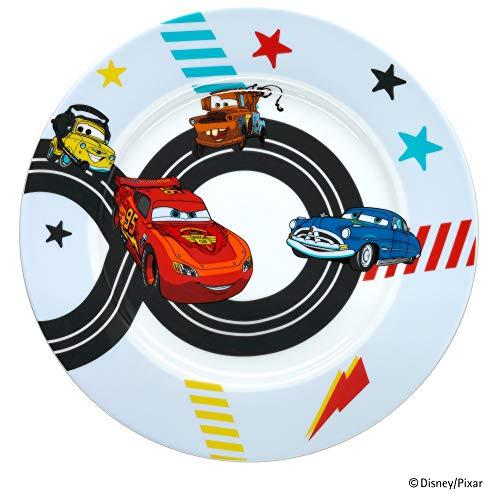 WMF Disney Cars2 Kindergeschirr Kinderteller 19,0 cm, Porzellan, spülmaschinengeeignet, farb- und lebensmittelecht