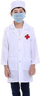 TOPTIE Children White Lab Coat Kids Doctor Role Play Costume