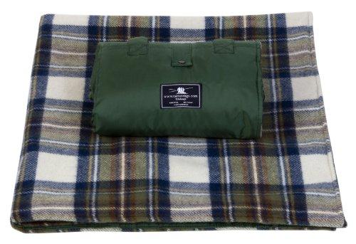 Tweedmill Textiles Muted Blue Stewart Tartan/Schottenmuster Wasserdicht Picknickdecke – Stundardgröße