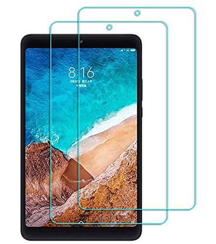 Lusee 2 Pezzi Vetro Temperato per Xiaomi Mi Pad 4 8.0 Tablet Pellicola Protettiva [Durezza a 9H] [Chiaro HD] Anti Graffio/Anti Impronta 2.5D per Schermo