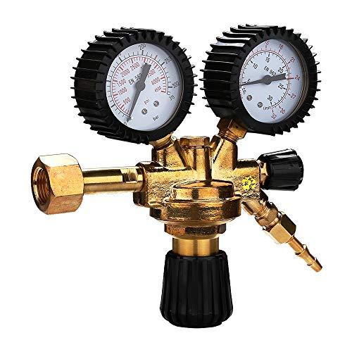 Hengda Druckminderer Druckregler für Argon/Co² Schweißgerät Schutzgas zu MIG/MAG WIG TIG Mehrwegflaschen