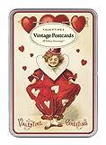 Cavallini & Co. Glitter Greetings Vintage Valentines: 12 Assorted Postcards