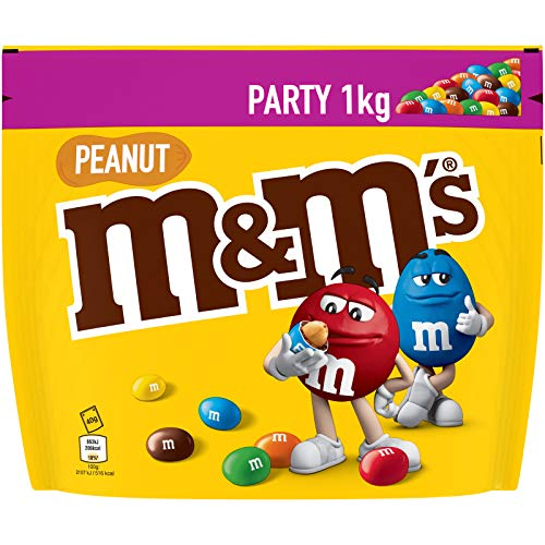 M&M's PEANUT - Billes à la cacahuète enrobés de chocolat au lait -Pochon de 1Kg