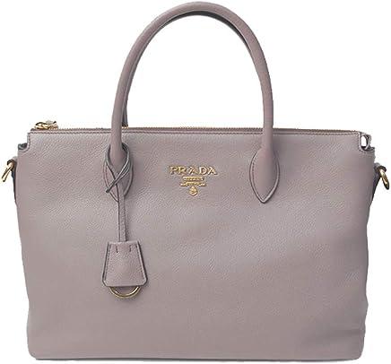0fd92d1b1640 Prada Women's Vitello Phenix Handbag 1ba063 Gray Leather Tote