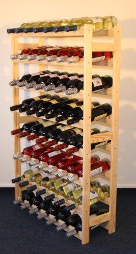 Len Mar.de Weinregal Weinregal Holz Flaschenregal für 56 Flaschen NEU!!! RW_1_56