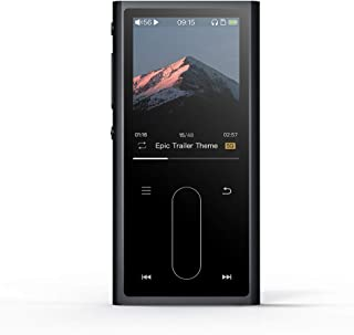 FiiO M3K 192K/24Bit Mini HiFi Metal Shell MP3 Player with Digital Voice Recorder,24 Hours Playback and Expandable Up to 512GB with Independent Lock & Volume Control,Black