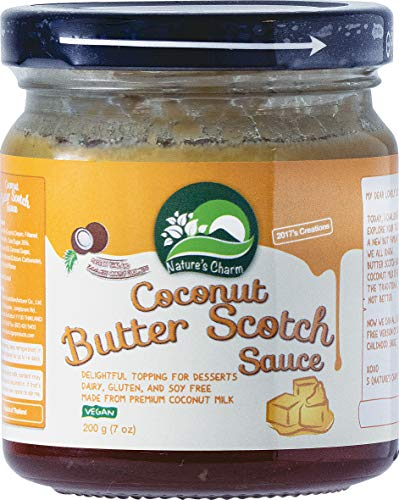 NATURE'S CHARM Dessert Sauce, Coconut Butter Scotch Sauce, 200 g