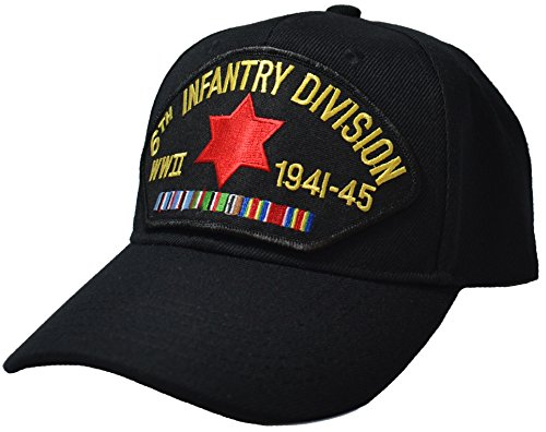 6th Infantry Division WWII Veteran Cap Black