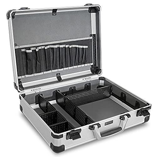 HEMMDAL Aluminiumkoffer, silber – mit...