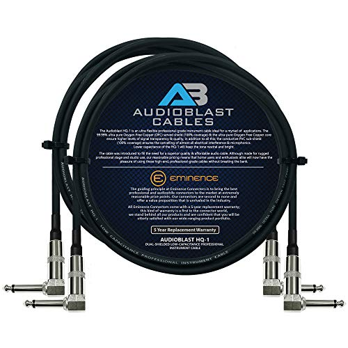 Audioblast - 2 Units - 2 Foot - HQ-1 - Ultra Flexible - Dual Shielded (100%) - Guitar Instrument Eff - http://coolthings.us