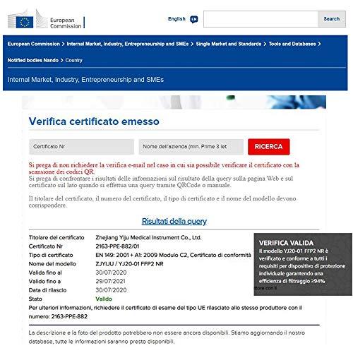 Eurekaled 20 Stück Atemschutzmaske Kn95 / FFP2 Atemschutzmaske Staubschutz 4-lagig - 3
