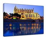 Bilderdepot24 Bastidor Lienzo Catedral de Palma de Mallorca - España - 120x90 cm 1 Pieza - Enmarcado Listo Bastidor Imagen. Directamente Desde el Fabricante