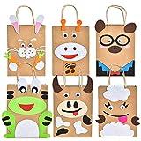 Herefun 6 Bolsas de Regalo Pascua, Conejo de Pascua, Bolsas de Papel, Bolsas de Caramelos, Bolsas de Regalo de Colores para Pascua, para Rellenar Regalos para niños y Adultos