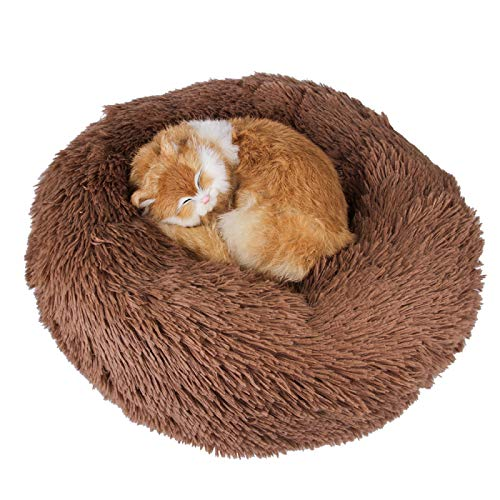 CRYSNERY Pet Dog Cat Calming Bed,Soft Lavable Cómodo Donut Cuddler Round Dog Bed Pet Bed Sofá para Dormir Invierno