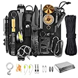 Survival Gear and Equipment,Survival kit 30 in 1,Cool Camping Hiking Hunting Fishing Gifts for Men...