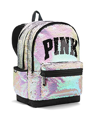 Bling Campus Backpack Silver Gold Full Sequined Zipper School Bag