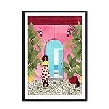 BFDSTY Arte Abstracto de la Pared Pintura de la Lona Cartagena Mujeres Vida Marco de Imagen Cartel impresión Moderna Arte Pasillo Sala de Estar decoración única 40x60cm x2 sin Marco
