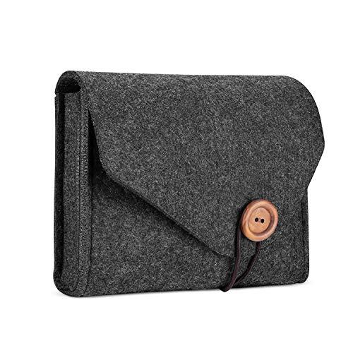 ProHülle Felt Aufbewahrungskoffer Tasche, Portable Travel Electronics Zubehör Organizer Tasche für MacBook Laptop Maus Power Adapter Kabel Power Bank Handy Zubehör Ladegerät SSD HHD - Schwarz