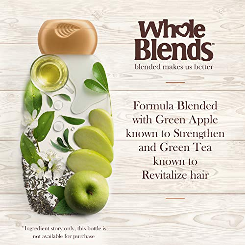 Garnier Whole Blends Shampoo with Green Apple & Green Tea Extracts, Normal Hair, 12.5 fl. oz.