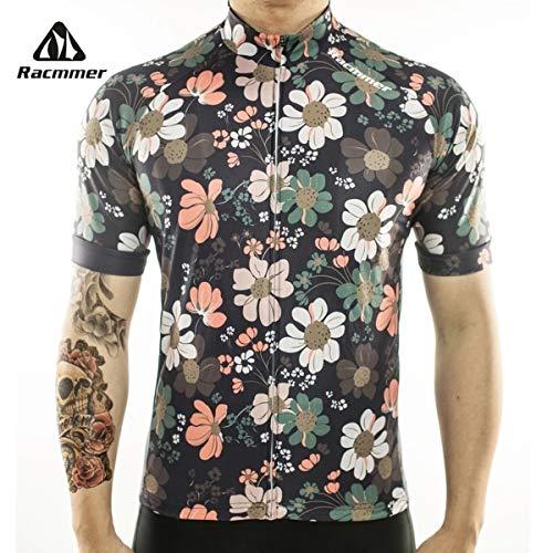 ZETA SHOES Professioneel fietsshirt voor heren, korte mouwen, ademend, mountainbike/MTB, ademend en absorberend, sneldrogend